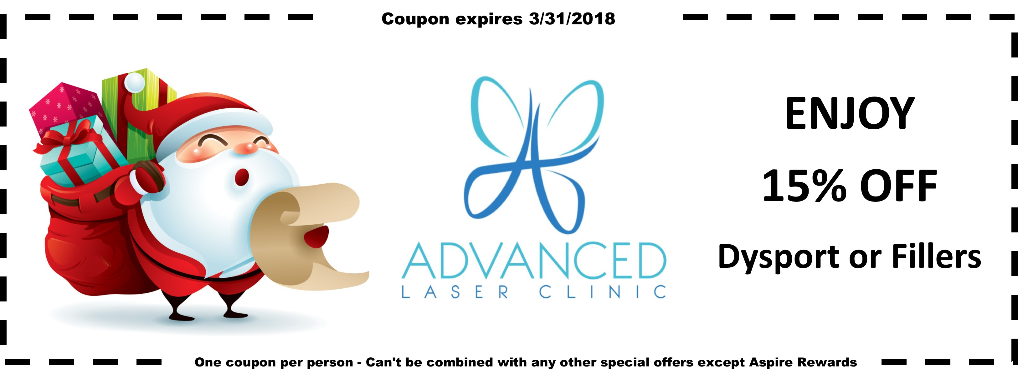 Advanced Laser Clinic Christmas Coupon for Dr Talley - Dermal Fillers Springfield MO