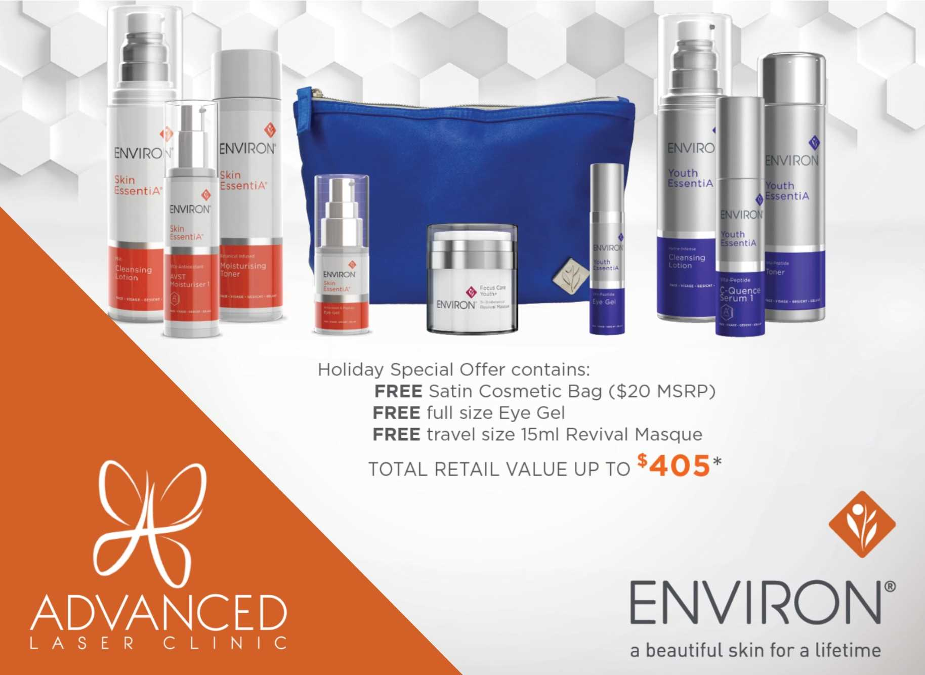 Flash Sale on Skin Rejuvenation and Laser Hair Removal Springfield MO - Environ Holiday Bag